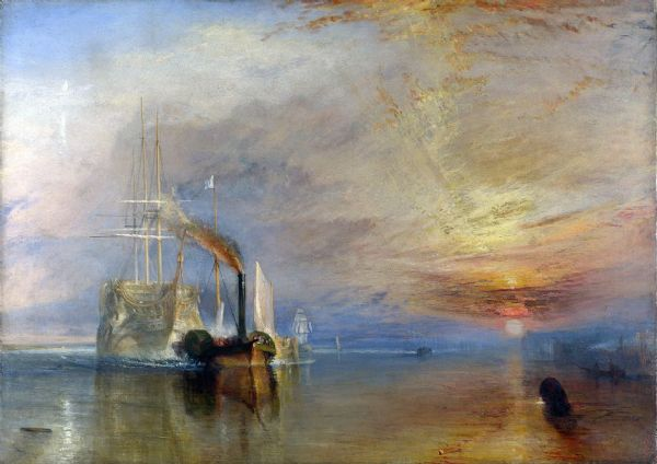 Turner, William: The Fighting Temeraire Tugged to Her Last Berth to be Broken Up. Fine Art Print/Poster. Sizes: A1/A2/A3/A4 (00229)